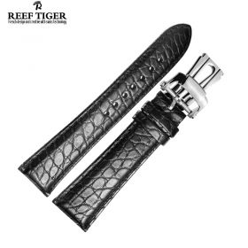 Reef Tiger Black Alligator Strap