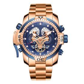 Aurora Concept Complicated Dial Rose Gold Case Sports Bracelet Watch RGA3503-PP
