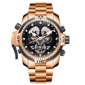 Aurora Concept Complicated Dial Rose Gold Case Sports Bracelet Watch RGA3503-PBPB