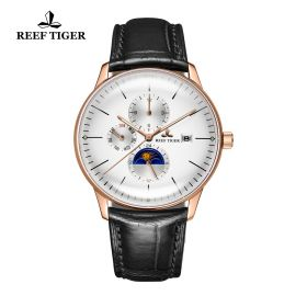 Seattle Philosopher White Dial Rose Gold Case Automatic Watch