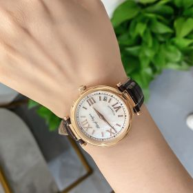 Love Luthier Rose Gold White Dial Automatic Leather Ladies Watches RGA1595-PWW