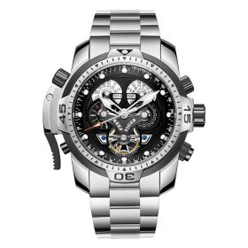 Aurora Concept Complicated Dial Steel Case Sports Bracelet Watch RGA3503-YBYB