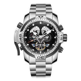 Aurora Concept Complicated Dial Steel Case Sports Bracelet Watch RGA3503-YY