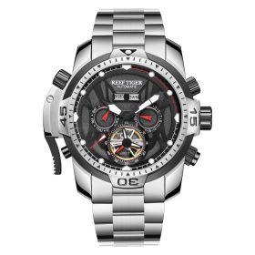 Aurora Transformer Steel Case Automatic Complicated Watches Bracelet Strap RGA3532-YY