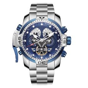 Aurora Concept Complicated Dial Steel Case Sports Bracelet Watch RGA3503-YLYB