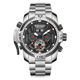 Aurora Transformer Steel Case Automatic Complicated Watches Bracelet Strap RGA3532-YBY