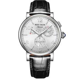 Artist Limner White Dial Steel Case Black Strap Automatic Watch