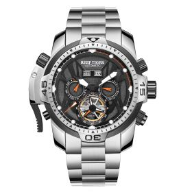 Aurora Transformer Steel Case Automatic Complicated Watches Bracelet Strap RGA3532-YBYO