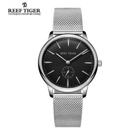 Classic Vintage Couple Watch Black Dial Full Steel For Men