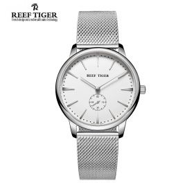 Classic Vintage Couple Watch White Dial Full Steel For Men