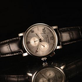 Artist Limner White Dial Steel Case Black Strap Automatic Watches RGA1978-YWB