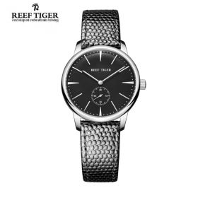 Classic Vintage Couple Watch Black Dial Steel Watch For Women