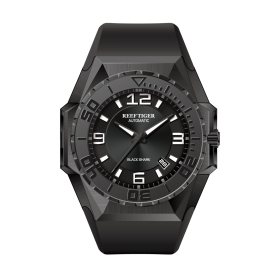 Aurora Black Shark Sport Watches Blue Dial Automatic Watch Rubber Strap Military Watches RGA6903-B