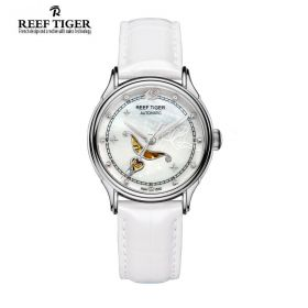 Love Angel White MOP Dial White Leather Strap Stainless Steel Watch