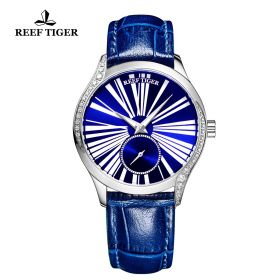 Love Highness Blue Dial Roman Numeral Markers stainless steel Watch