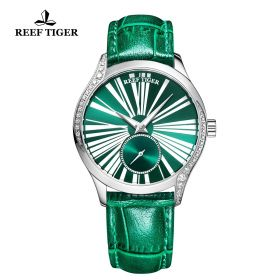 Love Highness Green Dial Roman Numeral Markers stainless steel Watch