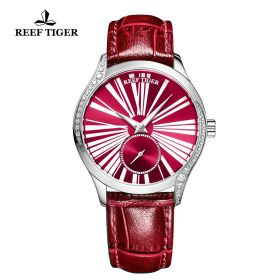Love Highness Red Dial Roman Numeral Markers stainless steel Watch