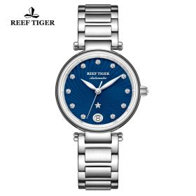 Love Polaris Steel Blue Dial Diamonds Dots Markers Watch