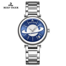 Love Saturn Steel Blue Dial Stick Markers Watch