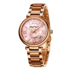Love Luthier Rose Gold Pink Dial Automatic Ladies Watch