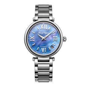 Love Luthier Steel Blue Dial Automatic Date Ladies Watch