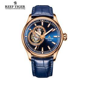 Seattle Sea Hawk Blue Dial Rose Gold Mens Watch