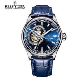 Seattle Sea Hawk Blue Dial Steel Mens Watch