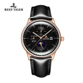 Seattle Philosopher Black Dial Rose Gold Case Automatic Watch