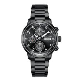 Seattle Captain All Black Automatic Mechanical Men Watch RGA1659-B
