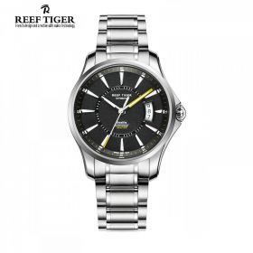 Seattle Space Needle Black Dial Stainless Steel Case Automatic Men's Watch