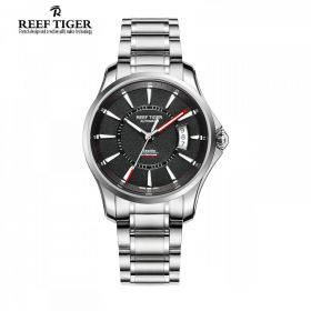 Seattle Space Needle Black Dial Automatic Steel Mens Watch