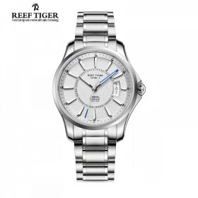 Seattle Space Needle White Dial Full Steel Automatic Mens Watch