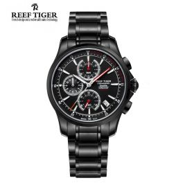 Seattle The Pacific Chronograph Black Dial DLC Men Quartz Watch