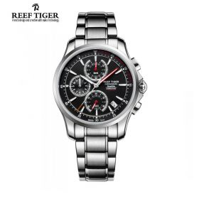 Seattle The Pacific Chrono Stainless Steel Mens Quartz Watch