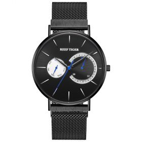 Seattle Sea Oslo WhiteAll Black With Stainless Steel Mens Quartz Watch