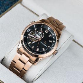 Seattle Columbus Black Dial Stainless Steel Rose Gold Watches RGA1693-2-PBP