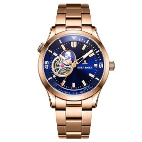 Seattle Columbus Blue Dial Stainless Steel Rose Gold Watch