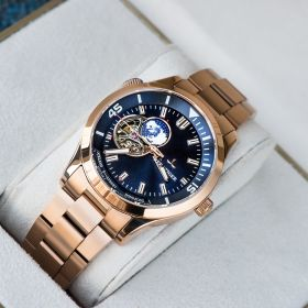Seattle Columbus Blue Dial Stainless Steel Rose Gold Watches RGA1693-2-PLP