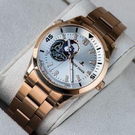 Seattle Columbus White Dial Stainless Steel Rose Gold Watches RGA1693-2-PWP