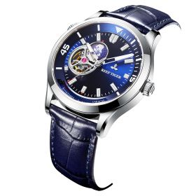 Seattle Columbus Blue Dial Steel Case Leather Strap Mens Watches RGA1693-2-YLL