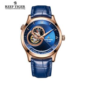 Seattle Sailing Blue Dial Rose Gold Mens Watch