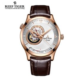 Seattle Sailing White Dial Rose Gold Mens Watch