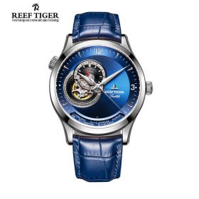 Seattle Sailing Blue Dial Steel Mens Watch