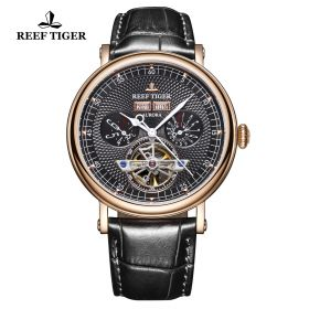 Artist Limner Rose Gold Case Black Dial Automatic Watch