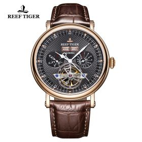 Artist Limner Black Dial Rose Gold Case Automatic Watch