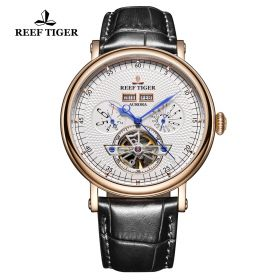 Artist Limner Rose Gold Case White Dial Automatic Watch