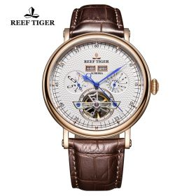 Artist Limner White Dial Rose Gold Case Automatic Watch