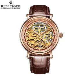 Artist Métiers D'Art Men's Skeleton Dial Automatic Rose Gold Watch