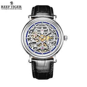 Artist Métiers D'Art Men's Genuine Leather Strap Mechanical Skeleton Watch