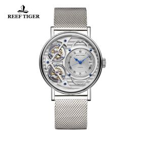 Artist Magician Skeleton Dial Steel Case Automatic Watch